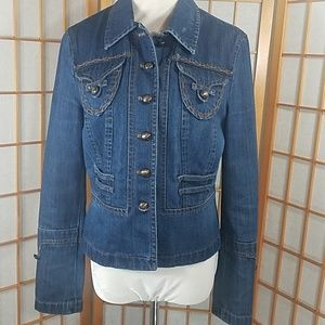 Apriori by Escada blue denim jacket, jean jacket